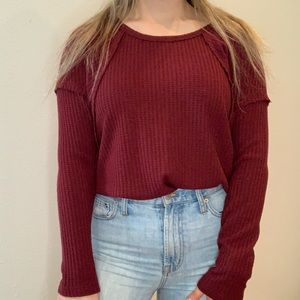Maroon lightweight sweater